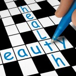 A crossword showing health and beauty.