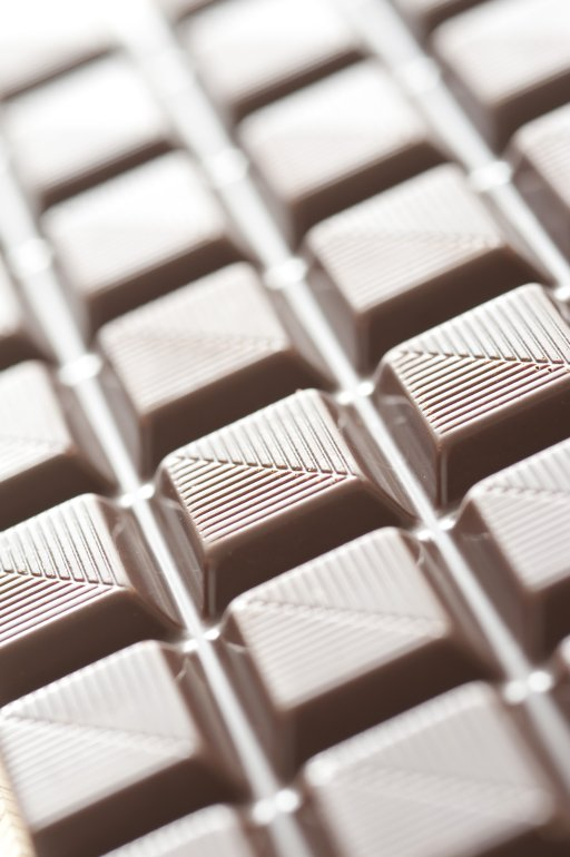 Milk Chocolate Square Sections Free Stock Image