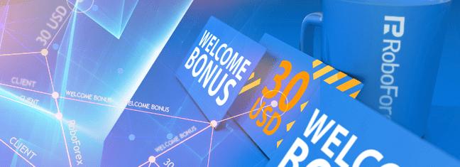 No Deposit Bonus ROBOFOREX $30 USD