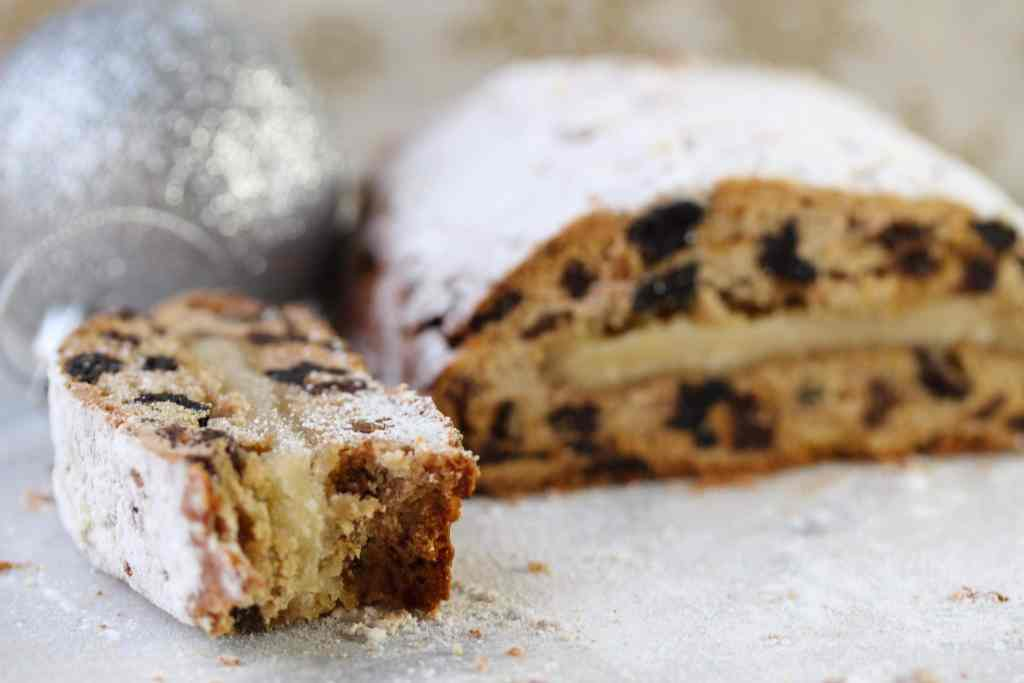 Gluten free Dairy free stollen made with wholegrain fairyflour