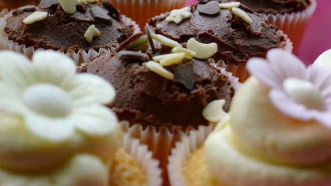 Chia seeds in my cupcakes...helps keep them moist!