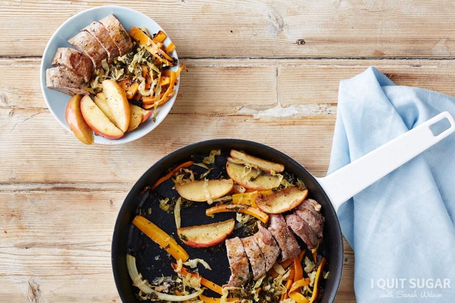Pork with Kimchi Cabbage + Baked Apples (Original)