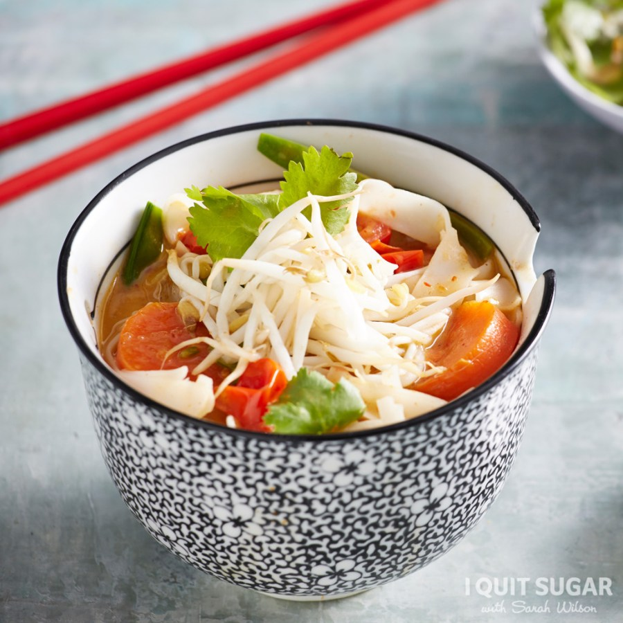 Vegetarian Laksa with Rice Noodles (Square)
