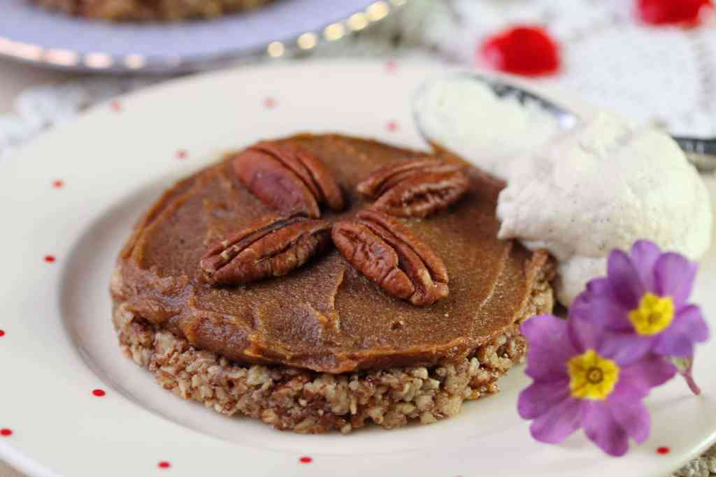 Simple delicious version of pecan pie that is grain free, dairy free, eggfree, refined sugar free and suitable for those on the GAPS, SCD or paleo diet