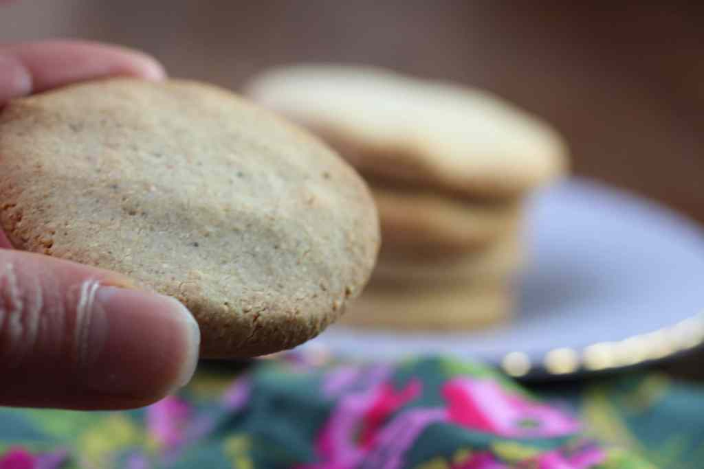Smooth buttery chestnut and orange shortbread - paleo, grain-free and refined sugar-free