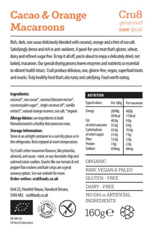 Cacao Orange Macaroon Nutrition Copy 2