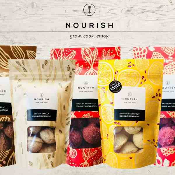 Organic Coconut Macaroon Selection Box Free From Festival Marketplace