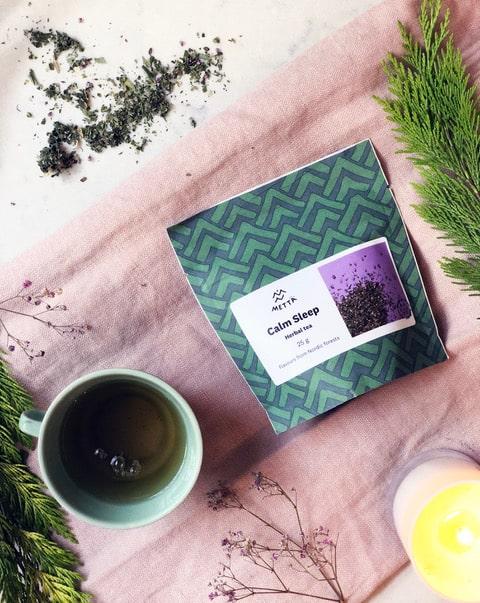 Calm Sleep Herbal Tea lifestyle