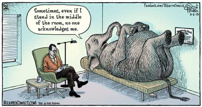 Elephant comic from Bizarro Comics