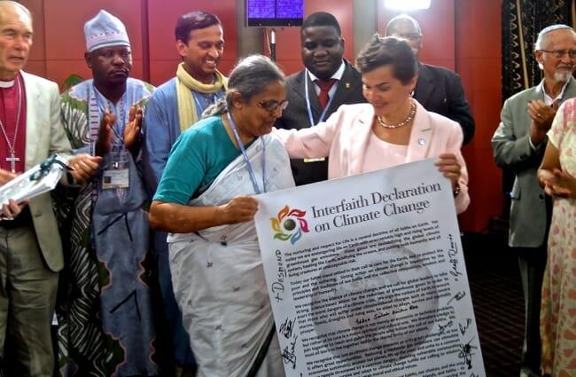 interfaith declaration on climate change
