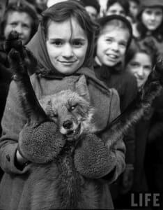 girl with dead fox