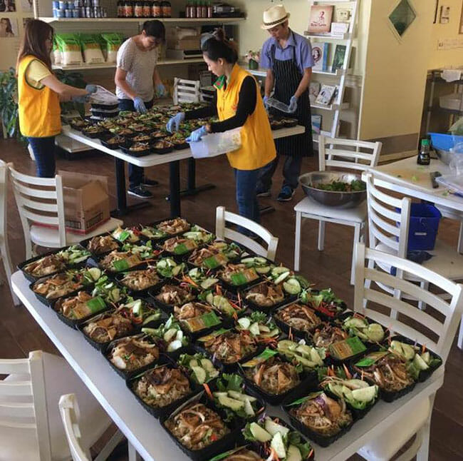free vegan meals for delivery after hurricane Harvey.