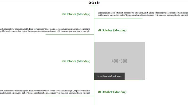 Demo Image: CSS Timeline