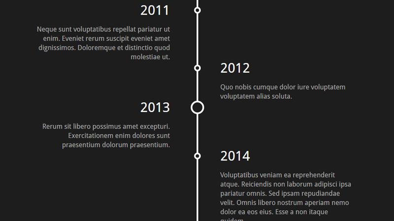 Demo Image: Vertical Timeline