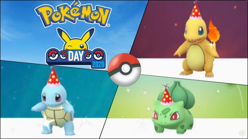 Pokemon Go How To Get Bulbasaur Charmander And Squirtle With Party Hat Pokemon Day