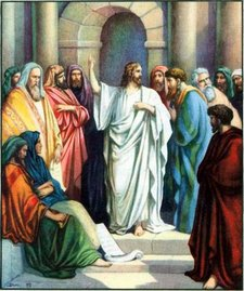 jesus teaching in the temple