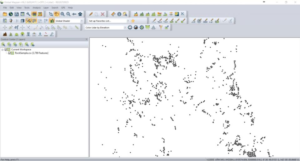 open csv file on global mapper