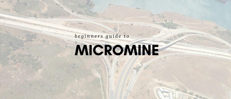 micromine tutorial