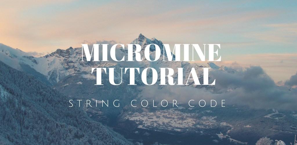 display string file micromine ftd