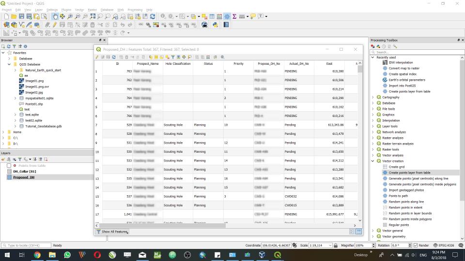 open MySQL Table in QGIS