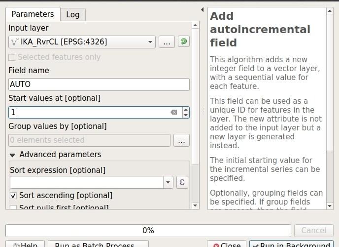 add auto incremental field