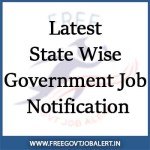 Latest State Wise Government Jobs Notification