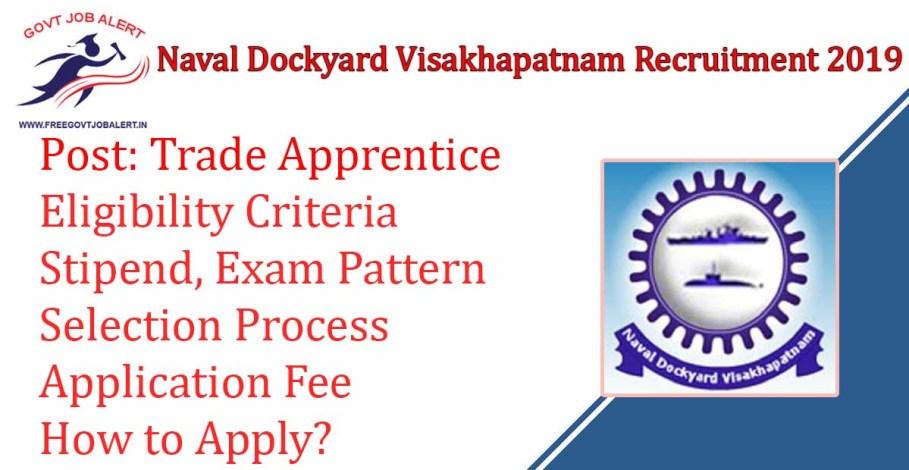 Naval Dockyard Visakhapatnam Apprentice Jobs 2019