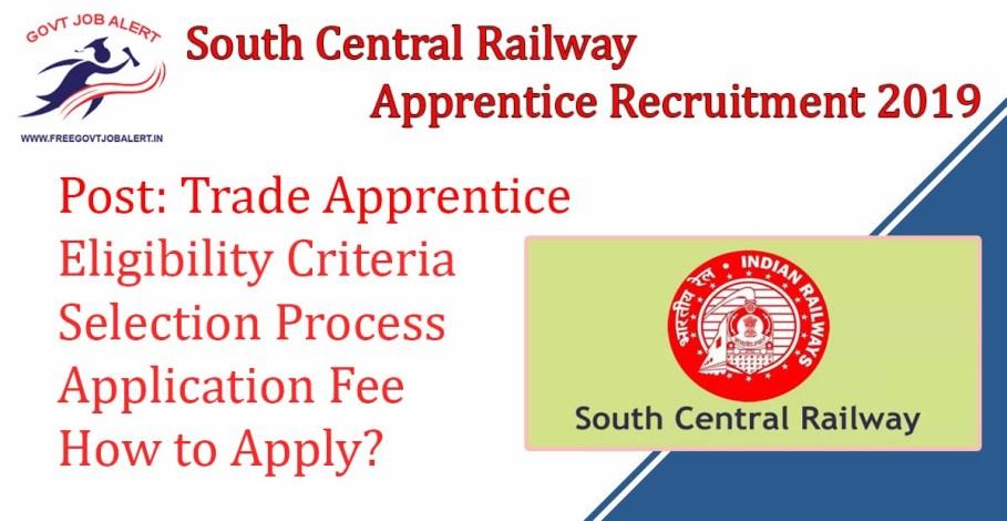 South Central Railway Apprentice Recruitment 2019 - 4103 RRC SCR Jobs