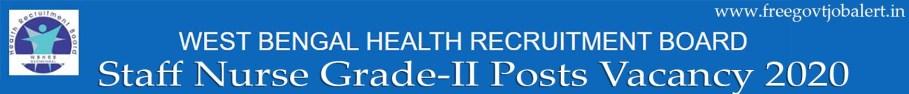 WBHRB Staff Nurse Recruitment 2020 - 9333 WBHRB Staff Nurse Vacancy