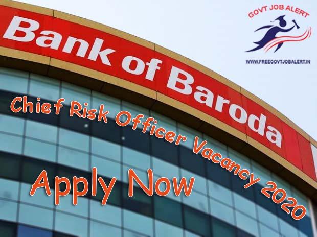 BOB Chief Risk Officer Recruitment 2020