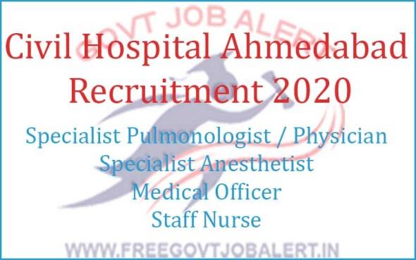 Civil Hospital Ahmedabad Recruitment 2020