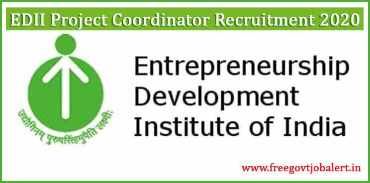 EDII Project Coordinator Recruitment 2020
