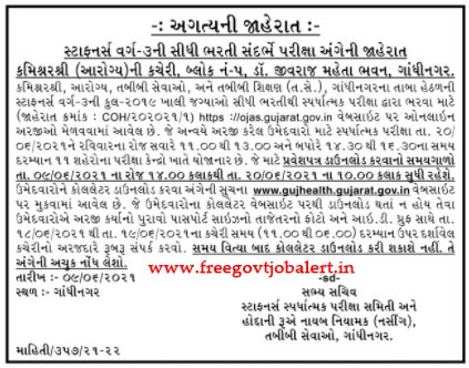 Gujarat Staff Nurse Exam Date & Admit Card Released Download Now - 20-06-2021