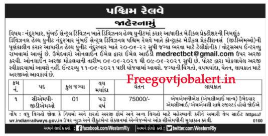 Western Railway Mumbai Central Divisional Recruitment 2021 - GDMO Post