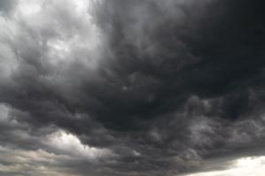 Dark storm clouds - rainy clouds