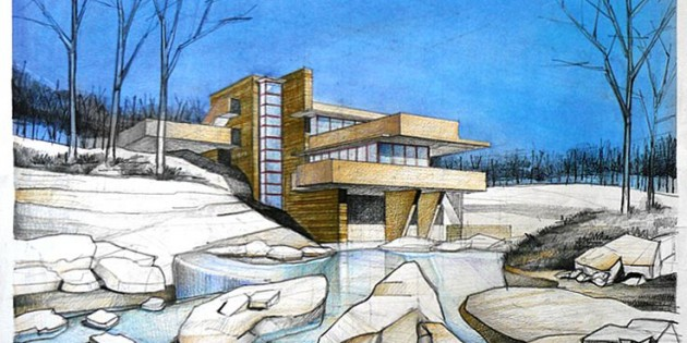 How to get a successful architectural drawing freehand for Find architects online