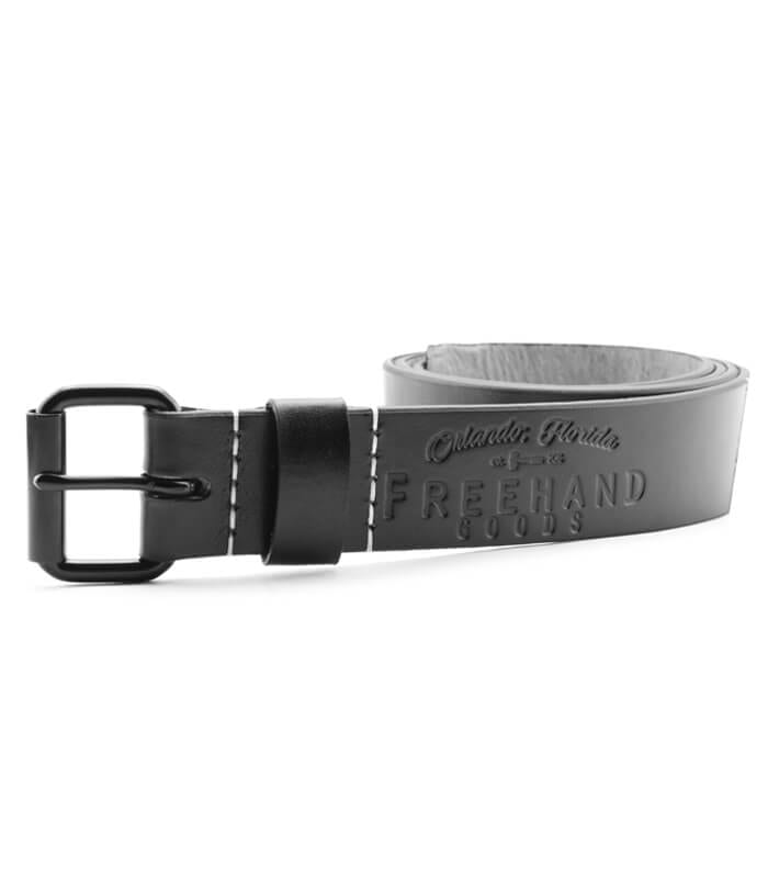 Black Ivanhoe Leather Belt