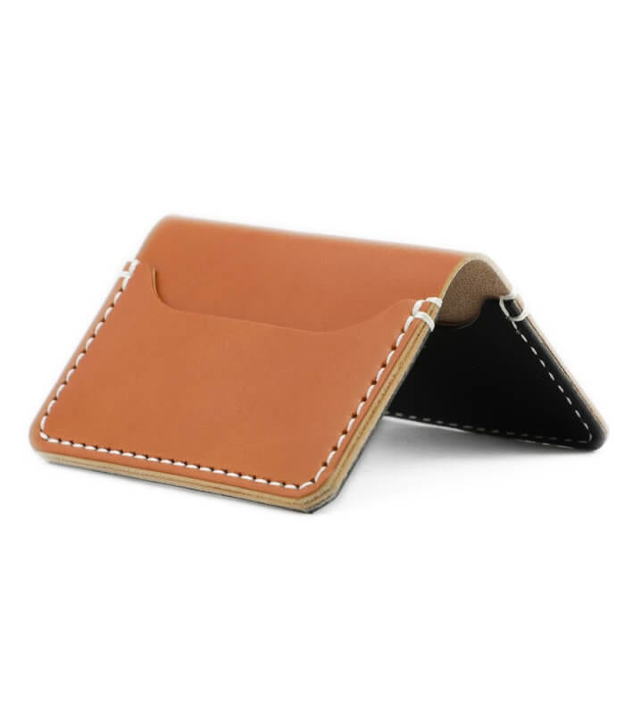 Tan Mills Leather Cardholder