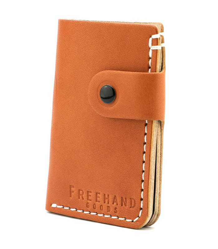 Tan Primrose Snap Leather Wallet