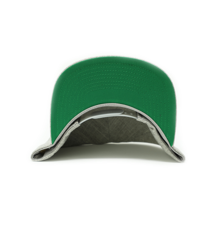 Heather Grey 6 Panel Snapback Hat