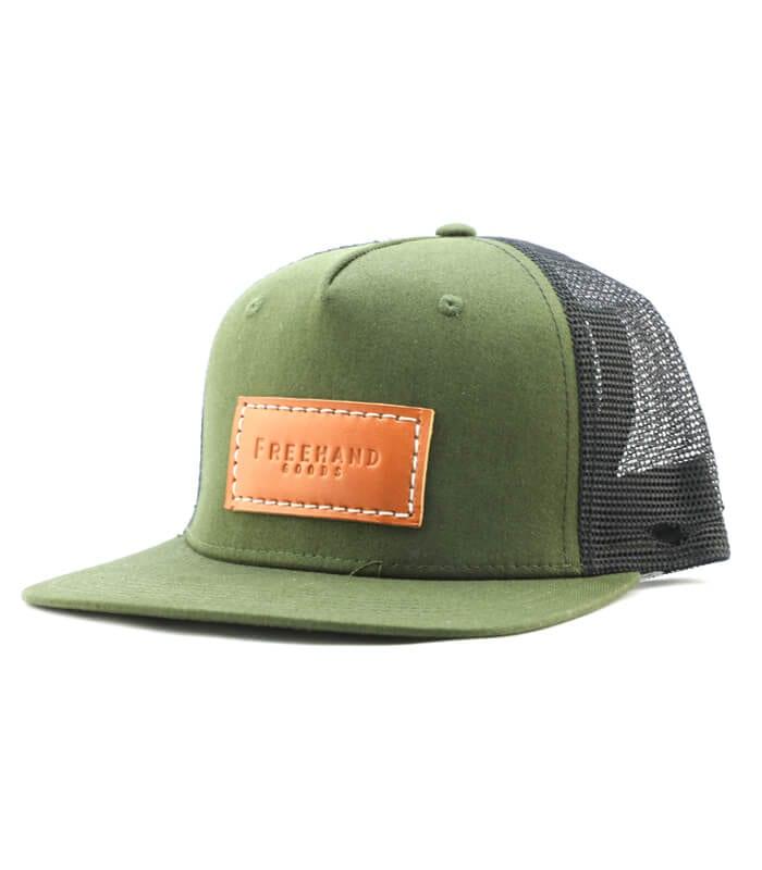 Olive Trucker 5 Panel Hat