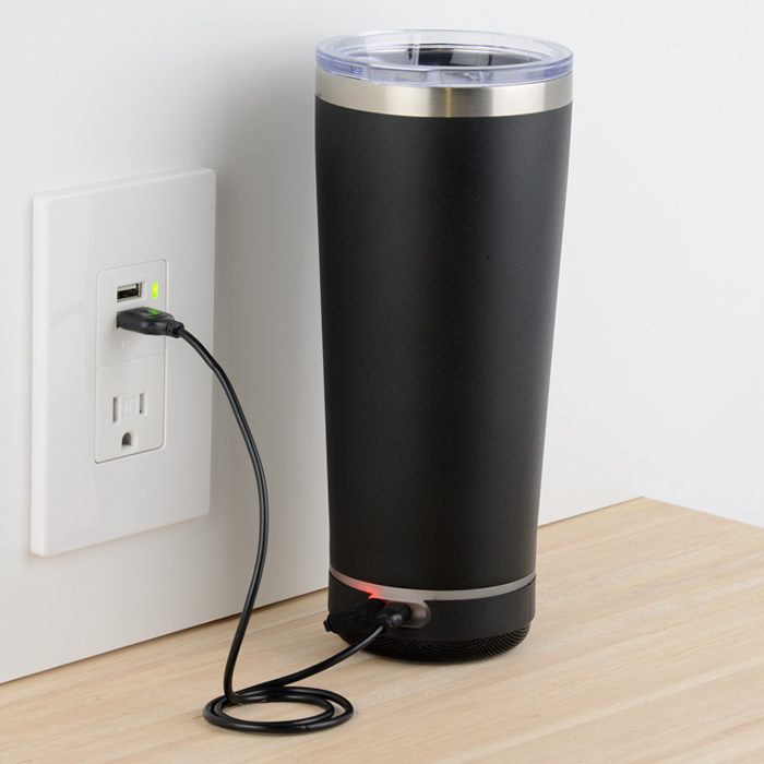Travel Tumbler with Bluetooth Speaker