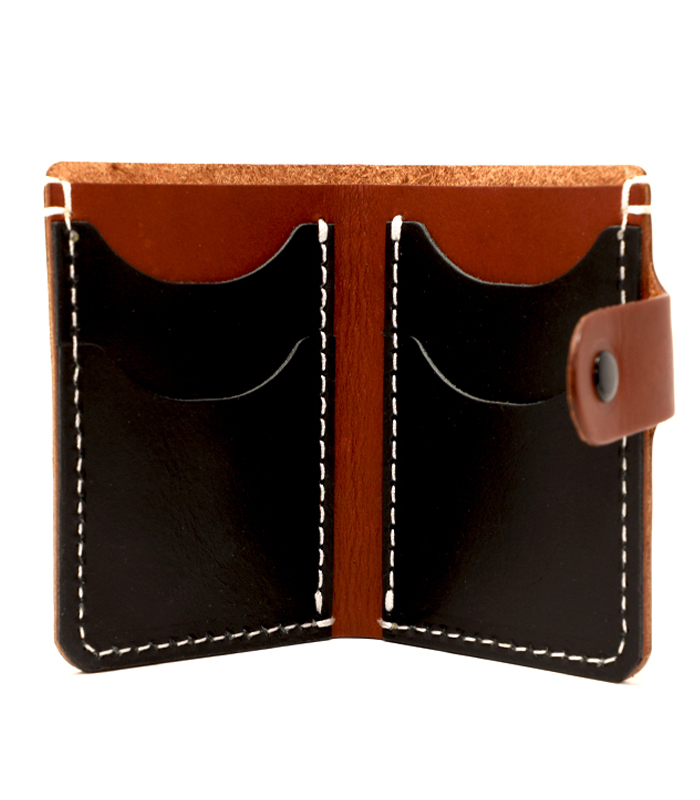 Chestnut Primrose Snap Leather Wallet