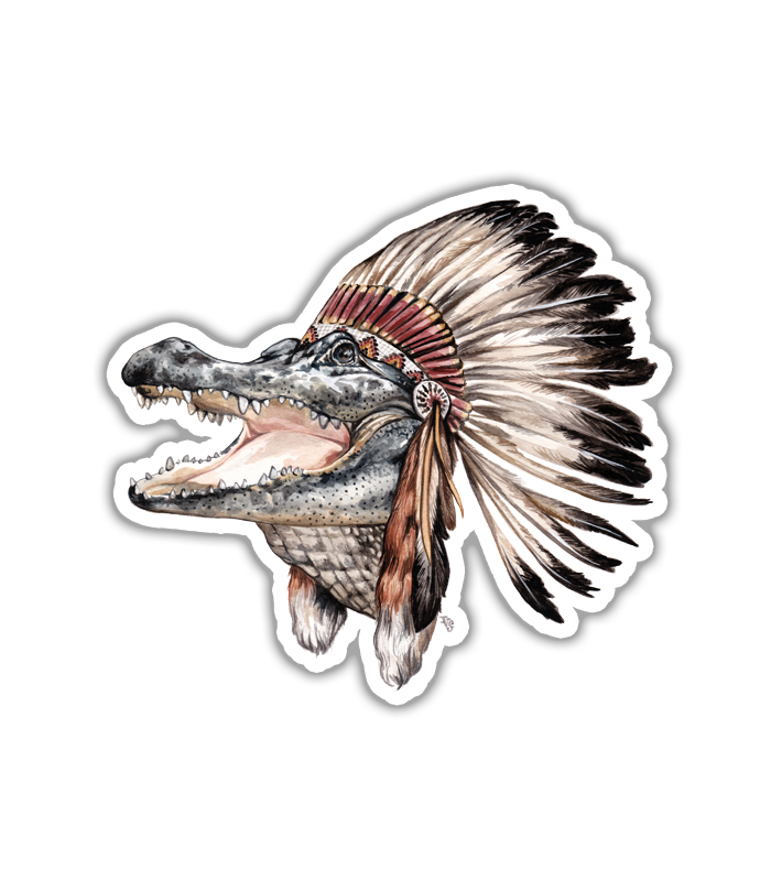 Swamp Native Sticker