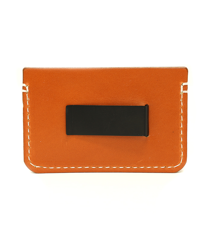 Tan Colonial Leather Money Clip