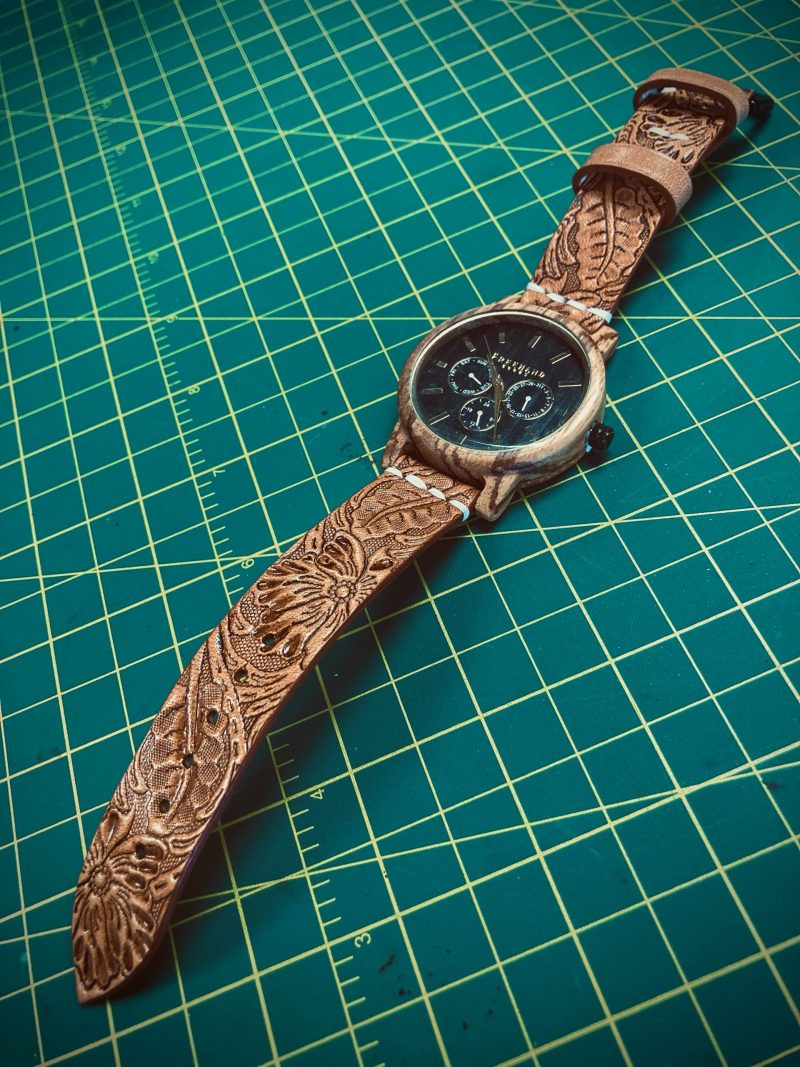 Tooled Summerlin Leather Watch