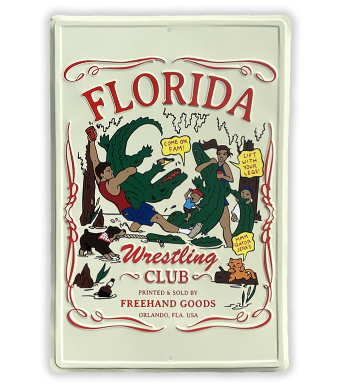 Florida Wrestling Club Aluminum Sign