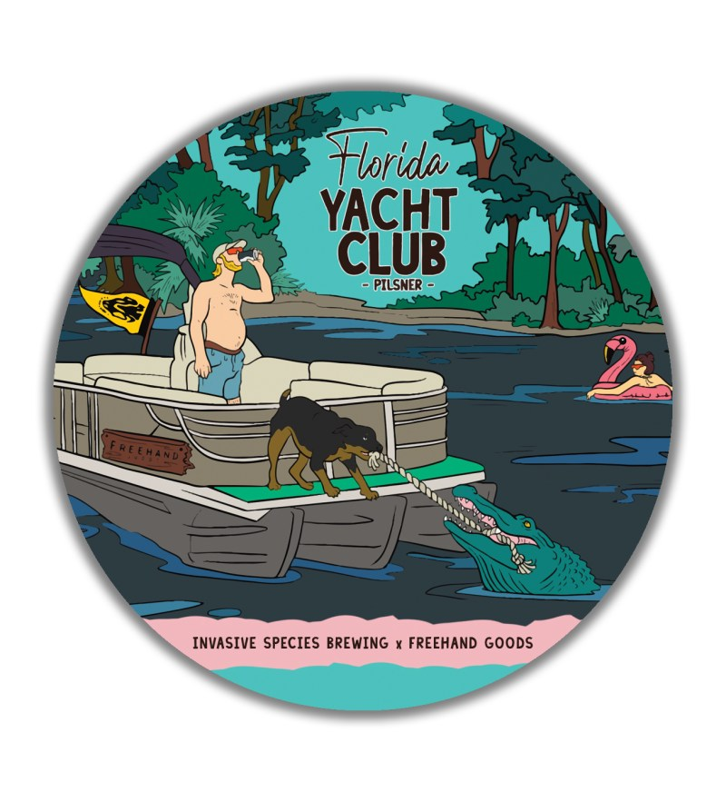 Florida Yacht Club Beer Coaster
