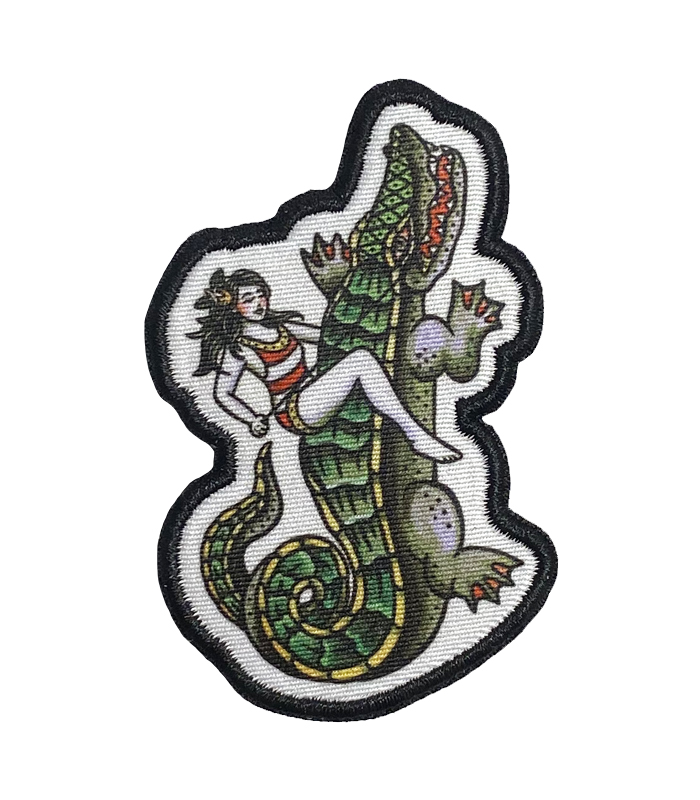 Gator Rider Embroidered Patch