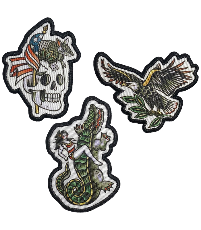 The Fifty Embroidered Patch Set